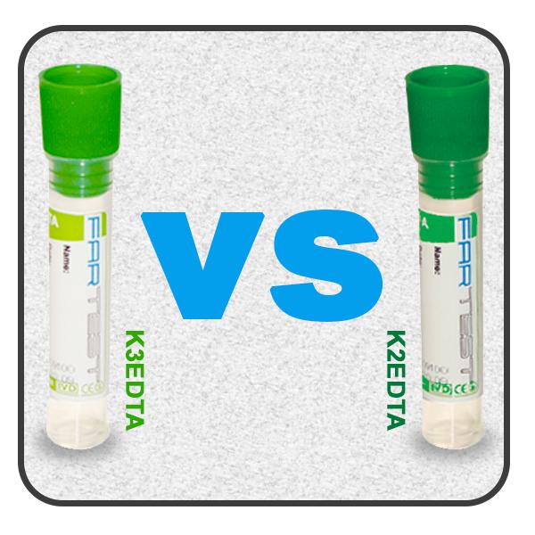 تاثیر ماده ضد لخته K2 EDTA   و K3 EDTA   برروی نتایج آزمایشCBC