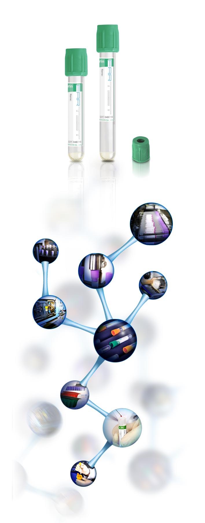 لوله وکیوم خون گیری هپارین و ژل (Heparin+gel)